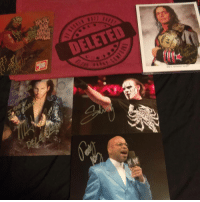 Memes, Sting, and Bret Hart: DELETED What I picked up from BTW tonight. Autographs from: Matt Hardy, Sting, and Teddy Long, Bret Hart, and Randy Savage. Also got the Matt Hardy shirt. I had an amazing night. ~Zane wwe tna wcw impactwrestling matthardy brokenmatthardy brethart brethitmanhart sting teddylong indywrestling prowrestling