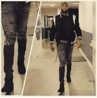 DeMarcus Cousins, Boots, and Mary J Blige: DeMarcus Cousins out here wearing Mary J. Blige boots.