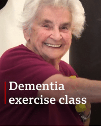 People with dementia have been taking part in a fitness class with a difference. The hour-long, weekly circuit sessions, held for around 20 people and their families and carers at the University of Nottingham, are performed to 1950s music. dementia fitness exercise bbcnews: Dementia  exercise class People with dementia have been taking part in a fitness class with a difference. The hour-long, weekly circuit sessions, held for around 20 people and their families and carers at the University of Nottingham, are performed to 1950s music. dementia fitness exercise bbcnews
