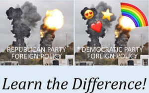 republican: DEMOCRATIC PARTY  FOREIGN POLICY  REPUBLICAN PARTY  FOREIGN POLICY  Learn the Difference!