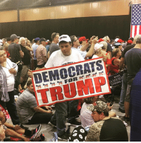 Memes, Trump, and 🤖: DEMOCRATS  TRUMP Caution: This photo may contain material capable of melting snowflakes 🔥 ❄️ 💦... pc: @realjacobd 📸 Trumplicans TrumpRally PhoenixRally PresidentTrump MAGA TrumpTrain AmericaFirst DemocratsForTrump DemsForTrump