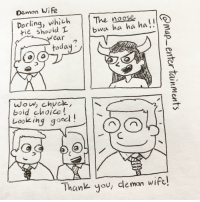 "<p>Demon Wife via /r/wholesomememes <a href=""http://ift.tt/2gfbjGZ"">http://ift.tt/2gfbjGZ</a></p>: Demon Wwife  Dorling, whichThe noose  ti shovid L  bwa ha ha ha!  wear  oda  wow, chyck  Loigood!  ooking g°  Thank you, demon wife! <p>Demon Wife via /r/wholesomememes <a href=""http://ift.tt/2gfbjGZ"">http://ift.tt/2gfbjGZ</a></p>"