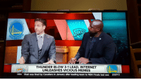 me_irl: DEN ST  ARRIO  THUNDER BLOW 3-1 LEAD, INTERNET  UNLEASHES VICIOUS MEMES  NBA Blatt was fired by Cavaliers in January after leading team to NBA Finals last sea ESFT me_irl