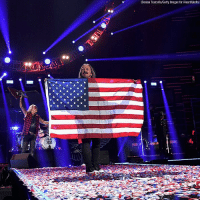 Memes, Music, and American: (Denise Truscello/Getty Images for iHeartMaia) Lynyrd @skynyrd honored the men and women of the military with a song dedication and an American flag at the iHeartRadio Music Festival Saturday night. proudamerican🇺🇸