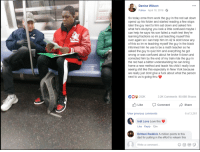 this just show how humans can wholesome,regardless of our skin color.: Denise Wilson  Follow April 18, 2018.  So today omw from work the guy in the red sat down  opend up his folder and started reading a few stops  later the guy next to him sat down and asked him  what he's studying you look a little confused maybe i  can help he says his son failed a math test they're  learning fractions so im just teaching myself this  over again so i can help him im 42 & dont know any  of this so im re teaching myself the guy in the black  informed him he use to be a math teacher so he  asked the guy to quiz him and everything he got  wrong or was confused about he broke it down and  corrected him by the end of my train ride the guy in  the red had a better understanding he can bring  home a new method and teach his child i really love  seeing shit like this especially in New York because  we really just dont give a fuck about what the person  next to us is going thru  252K  3.2K Comments 90,688 Shares  Like CommentShare  View previous comments  6 of 3,281  Indi Love Love this  Like Reply 12m  Brittani Reddick A million points to this  dad for putting in the effort to relearn this  Write a comment.. this just show how humans can wholesome,regardless of our skin color.