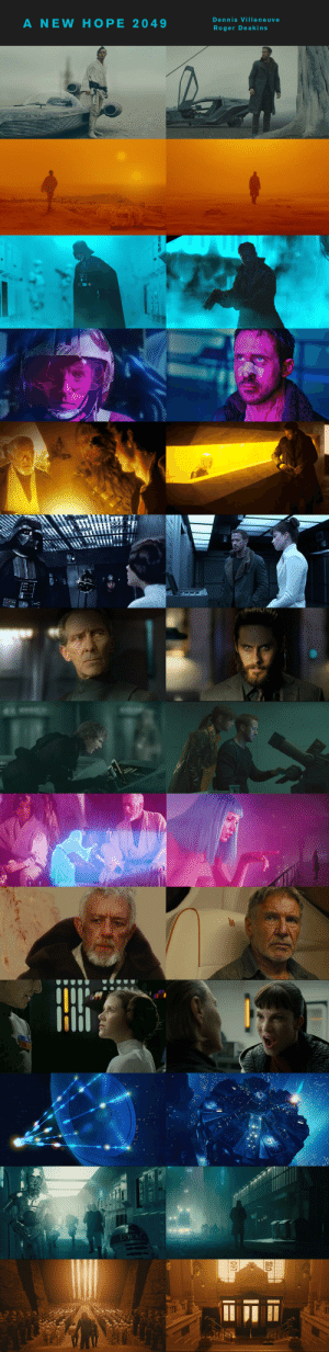 In Blade Runner (2049), Director Dennis Villeneuve ripped off shots and scenes from Star Wars (1977). This is because George Lucas is a genius.: Dennis Villeneuve  A NEW HOPE 2049  Roger Deakins  21EERA  TX1ABR  OF In Blade Runner (2049), Director Dennis Villeneuve ripped off shots and scenes from Star Wars (1977). This is because George Lucas is a genius.