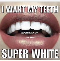Money, Home, and Limited: @DENTETO UK  SUPER WHITE Who wouldn't want white teeth! @denteto_uk are offering home teeth whitening kits at a limited price of £14.95, each purchase comes with a ✨30 DAY MONEY BACK GUARANTEE✨. USE DISCOUNT CODE 'WOTUSAYIN' AT CHECKOUT FOR EXTRA SAVINGS 😃😁✨ @denteto_uk @denteto_uk @denteto_uk @denteto_uk