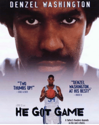 """HappyBirthday goes out to SpikeLee! He turned 61 today! Comment your favorite movie of his below! 👇🎂🎈 @OfficialSpikeLee Legend WSHH: DENZEL WASHINGTON  """"DENZEL  WASHINGTON...  AT HIS BEST!""""  WWOR-TV  """"TWO  THUMBS UP!*  SKEL&EBERT  SPIKE LEE  HE GOT GAME  A fathers freedom depends  on his son's choice HappyBirthday goes out to SpikeLee! He turned 61 today! Comment your favorite movie of his below! 👇🎂🎈 @OfficialSpikeLee Legend WSHH"""