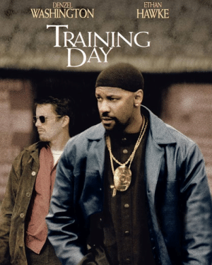 Denzel Washington, Training Day, and Washington: DENZEL  WASHINGTON  ETHAN  HAWKE  TRAINING  DAY Released on this day, Oct 5 2001