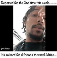 "Africa, Children, and Crying: Deported for the 2nd time this week....  @chakabars  It's so hard for Africans to travel Africa.. I'm so upset, I'm crying while I am writing this, all I want to do is see the children and make sure they are ok...I have been deported from DR Congo twice this week. I got my visa at the Congolese in Ethiopia, twice, because I was told it was ok to get it there. The government in Congo has just changed and they don't want westerners going there. So they are taking months to give out Visas in london. The goverment don't look after the impoverished children properly. They live in massive houses and never go down to the ""poor"" areas. When I first met the children in Ngaba they weren't being fed properly, there was nobody to pay their medical bills or school fees. I have been organising my life to make sure that they are good and I just want to move them out of terrible conditions that they live in. My heritage is Jamaican, but I wasn't raised there, I was raised in the UK, but I don't belong there, the only reason I am there is because of the slavery of my ancestors. I don't speak an African language so when I'm in Africa it's difficult to communicate. I feel like I'm an alien sometimes. When I met the children I felt like I belonged, they are orphans in their own country, I am an orphan of the planet. When my ancestors were stolen from Ghana or wherever, we didn't need a f*cking passport, now I need a passport to go back... And a £90 yellow fever which gives you a chicken Embryo injected with yellow fever. Yellow fever isn't even a problem, nor is Ebola. AIDS was put in to Africa by polio vaccines (Hilary koprowski) Some europeans created the borders for this reason, so they could divide and conquer us. They have built their whole society off the back of Africa, never apologised, don't share, still exploit Africa, they don't give back equally and we still experience racism. Many children in Africa are suffering, yes they are joyful because they are better humans than us. But the suffering is so much, no running water, no electricity, no sanitation, no food, no humanity, what can they do? more below 👇🏾"