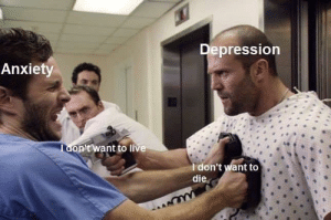 meirl: Depression  Anxiety  Tdon'twant to live  T don't want to  die meirl