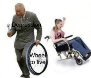 Smh, Depression, and Live: Depression  hee  to live Hate when that happens smh