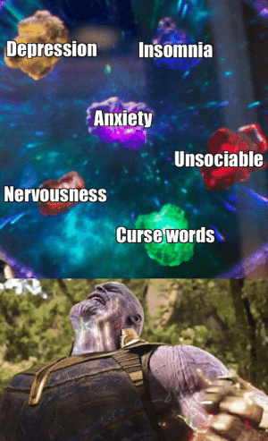Finals, Reddit, and Anxiety: Depression  Insomnia  Anxiety  Unsociable  Nervousness  Curse words Me during finals week.
