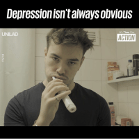 Dank, Mean, and Time: DepressionisntalwaysobvioUs  It's Time For  UNILAD  ACTION Just because it's not visible, doesn't mean someone isn't suffering 👇