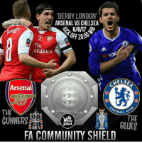 Arsenal, Chelsea, and Community: DERBY LONDON  ARSENAL VS CHELSEA  OFF 20.0  FlV  tiraies  YOK  ELSE  Arsenal  OOTBALL  THE  GUNNERS  instagram-jarinto  THE  BLUES  Ta  Rinto  Jahat  FA COMMUNITY SHIELD COMMINITY SHIELD 2017 Arsenal vs Chelsea Minggu, 6 Agustus 2017 🕗Kick off 20:00 Live Streaming untuk sementara belum ada Televisi Nasional yg nayangin, mohon bersabar gaes 😕 BigmatchKokStreaming Huuffftthhhh KezelKezelKezel COEG KTPSTNKBPKBMOTOR DerbyLontong jarintojahat Jagoin siapa? Si Merah apa Si Biru 👇👇👇👇