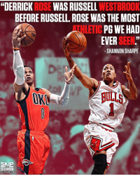 "Basketball, Derrick Rose, and Nba: ""DERRICK ROSE WAS RUSSELL WESTBROOK  BEFORE RUSSELL. ROSE WAS THE MOST  THLETIC PG WE HAD  EVER SEEN.""  1  -SHANNON SHARPE  OK  ULLS  SKIP  SHANNON  UNDISPUTED 👀🤔 (via @undisputedonfs1) nbamemes nba westbrook rose"