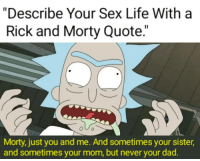 thumb describe your life with a rick and morty quote
