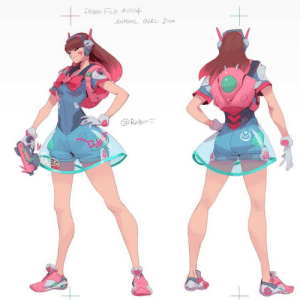 Instagram, School, and Tumblr: DESIGN FILE #004  SCHOOL GIRL DUA  @RoBurii hanamercy:  Sailor D.Va design by @roburii ( original skin concept by @lucidskyart )