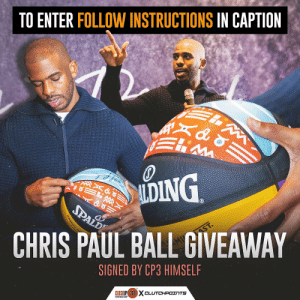 Designed and signed by Chris Paul himself!  ENTER HERE: https://t.co/lKbOxRFL7O https://t.co/Tl7gTaqq9l: Designed and signed by Chris Paul himself!  ENTER HERE: https://t.co/lKbOxRFL7O https://t.co/Tl7gTaqq9l