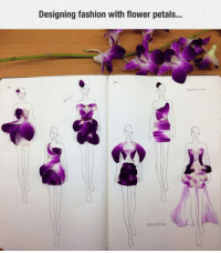 Fashion, Flower, and Flower Petals: Designing fashion with flower petals... <p>Flower Petals Fashion.</p>