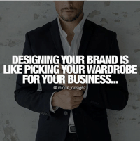 Memes, 🤖, and How: DESIGNING YOUR BRAND IS  UKE PICK NG YOUR WARDROBE  FOR YOUR BUSINESS  @unique designz Exactly @unique_designz 🙌🏻 - Go follow my friend Henry as he teaches you how to build your brand properly! - 👉🏻 @unique_designz 👉🏻 @unique_designz
