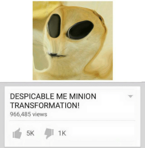 https://t.co/6H33VOmqWE: DESPICABLE ME MINION  TRANSFORMATION!  966,485 views  1K  5K https://t.co/6H33VOmqWE
