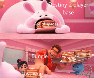 Destiny, Quest, and Rose: Destiny 2 player  base  Ace of spades  Malfeasance  Rose Lumina  Sturm  Bungie  Thorne  Last word Another hand cannon quest coming right up!