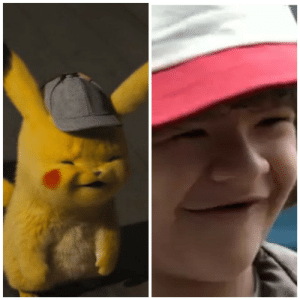 Pikachu, Detective, and Stranger: Detective Pikachu looks exactly like Dustin from Stranger Things