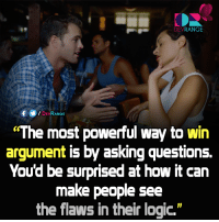 """#Psychology: DEV  RANGE  DEV  RANGE  """"The most powerful way to win  argument is by asking questions.  Youd be surprised at how it can  make people see  the flaws in their logic"""" #Psychology"""