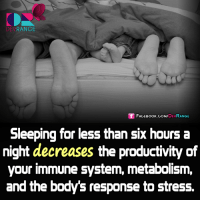 Memes, 🤖, and Stress: DEV  RANGE  Sf FACE DEV  RANGE  Sleeping for less than Six hours a  night decreases the productivity of  your immune system, metabolism,  and the body's response to stress. #DevRange