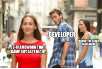Life, Javascript, and Last Night: DEVELOPER  PRODUCTION-READY  FRAMEWORK  IS-FRAMEWORKTHAT  CAME OUT LAST NIGHT The life of a JavaScript developer