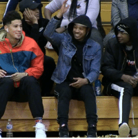 Memes, Watch, and 🤖: Devin Booker, Tyler Ulis & Josh Jackson pulled up to watch Tyler's little bro Ahron Ulis get buckets! @Lil_Ulis3 @tulis3 https://t.co/1Wwy0CcLLE