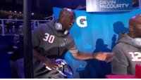 "Memes, 🤖, and Fighting: DEVIN  McCOURTY  32 ""I'm the favorite twin.""  @McCourtyTwins fighting over the podium 🤣  📺: #SBOpeningNight on @NFLNetwork https://t.co/lRioD3xG8b"