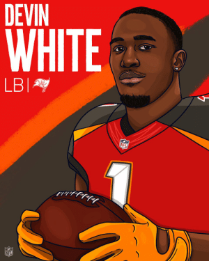 Memes, Nfl, and White: DEVIN  WHITE  NFL Welcome to the @Buccaneers, @DevinWhite__40! #NFLDraft https://t.co/wWZRg5AkiN