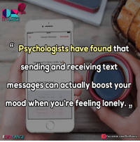 #Psychology #DevRange: DEVRANCE  Create Message Schedule  Psychologists have found that  HeHappy birthday, buddy  sending and receiving text  messages can actually boost your  Fri Mar 31 O8  mood when you're feeling lonely.  3  Tue Apr 4  NGE  FACE Book COMDEVRANGE  DEVRA #Psychology #DevRange