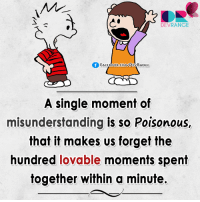 Memes, 🤖, and Poison: DEVRANGE  f FACEBOOK COMMDEVRANGE  A single moment of  misunderstanding is so Poisonous,  that it makes us forget the  hundred lovable moments spent  together within a minute. :(