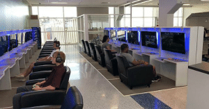 Gif, Tumblr, and Game:   DFW Airport added a gaming lounge so you can game while you wait for your plane