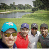 Click, Memes, and Selfie: Dhaka Dynamites' teammates click a selfie at the Golf course.