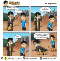 Harry Potter, Life, and Memes: Di Hogwarts  SELAMAT DATANG  DI HOGWARTS...  EITS..  TAPI KAMU  MUGGLE.  INI SAPU  BUAT KAMU  PANTASNYA MENJADI  TUKANG KEBUN  DI HOGWARTS SAJA!!!  JADI.  we  SREK  SREK...  乜 s..unyu.comic @si.unyu.comic EAfb.com/si.unyu.007  Si.unyU.comi Repost @si.unyu.comic ・・・ 20 years ago, a little book under the name of Harry Potter and the Philosopher's Stone was released in the UK. Nobody knew when it came out how much of impact The Boy Who Lived would have on the world and that for JK Rowling, her life was about to change for the better... harrypotter20 . . komikinajah maleminajah
