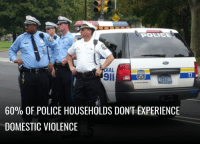 Now this is progress! Thank you for your service :): DIAL  POLICE  NG-2294A  60% OF POLICE HOUSEHOLDS DONT EXPERIENCE  DOMESTIC VIOLENCE Now this is progress! Thank you for your service :)