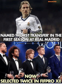Magician   -#DiaMond.: DIAMOND  NAMED WORST TRANSFER IN THE  FIRST SEASON AT REAL MADRID  NOW  SELECTED TNWICE IN FIFPRO XII Magician   -#DiaMond.