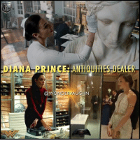 """""""WORKING 9-5"""" In her civilian identity, Diana Prince is an ANTIQUITIES DEALER working for the Louvre Museum in Paris, France. She specializes in the acquisition, appraisal and sales distribution of ancient Greek, Roman, and Egyptian artifacts estimated around 5000 years old. * @gal_gadot in @batmanvsuperman @wonderwomanfilm and the upcoming @justiceleague *** mywonderwoman girlpower women femaleempowerment MulherMaravilha MujerMaravilla galgadot unitetheleague princessdiana dianaprince amazons amazonwarrior manofsteel thedarkknight: DIANA PRINCERANTIQUITIES DEALER  NDERVAUGN """"WORKING 9-5"""" In her civilian identity, Diana Prince is an ANTIQUITIES DEALER working for the Louvre Museum in Paris, France. She specializes in the acquisition, appraisal and sales distribution of ancient Greek, Roman, and Egyptian artifacts estimated around 5000 years old. * @gal_gadot in @batmanvsuperman @wonderwomanfilm and the upcoming @justiceleague *** mywonderwoman girlpower women femaleempowerment MulherMaravilha MujerMaravilla galgadot unitetheleague princessdiana dianaprince amazons amazonwarrior manofsteel thedarkknight"""