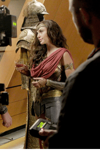 Target, Tumblr, and Blog: dianadethemyscira:Gal Gadot behind the scenes of Justice League (2017) dir. Zack Snyder.  Step on me wife