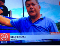 <h2>Oh, the irony!</h2>:  #DiarioDevia  24  UBER JIMENEZ  TAXISTA  22:23 <h2>Oh, the irony!</h2>