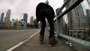 Ass, Fucking, and Tumblr: diarrheaworldstarhiphop: HE FUCKING GRINDED THE ENTIRETY OF YHE GRANVILLE BRIDGE OFFRAMP  THATS A LONG ASS RAMP