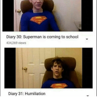 Diary 30: Superman is coming to school  434,269 views  Diary 31: Humiliation