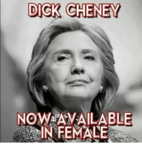 Oh snap: DICK CHENEY  NOW AVAILABLE  IN FEMALE Oh snap