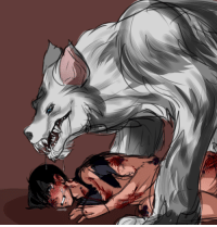 Target, Tumblr, and Yo: dicktofen:  nayart: I keep getting werewolf!Slade/Jason asks on my other blog and I am powerless to resist hopefully anon doesn't mind a quick sketchy picture instead of a fic! (though lbr I'll probs write it at some point anyway)  yo ho werewolf anon(s), in case you don't follow my art blog, I did a thing!