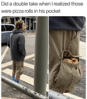 Pizza, Legend, and Pocket: Did a double take when I realized those  were pizza rolls in his pocket legend