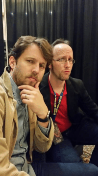 Did a panel with Napoleon Dynamite himself Jon Heder.  SUPER cool guy.  Very laid back, funny, and values being silly as much as I do.  This is us posing for sexiest men alive.  Don't act like you don't want us.  More Rhode Island Comic Con pictures coming soon.: Did a panel with Napoleon Dynamite himself Jon Heder.  SUPER cool guy.  Very laid back, funny, and values being silly as much as I do.  This is us posing for sexiest men alive.  Don't act like you don't want us.  More Rhode Island Comic Con pictures coming soon.